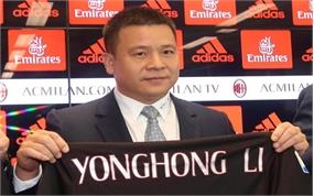 Ông chủ người Trung Quốc của Câu lạc bộ AC Milan tuyên bố phá sản