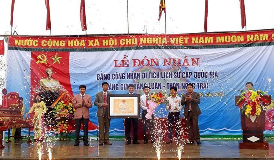 Công nhận lăng Giáp Đăng Luân là di tích cấp Quốc gia