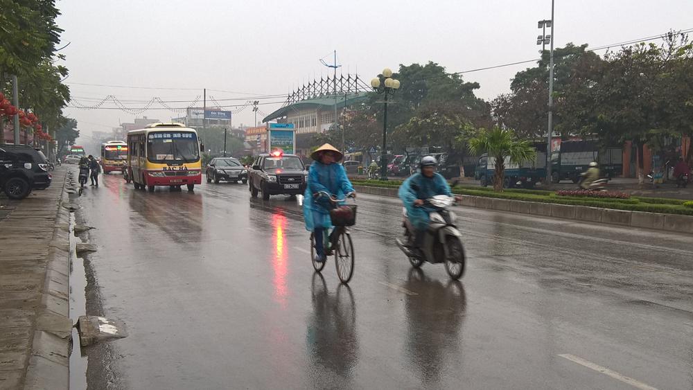 Bắc Giang: Mưa nhỏ rải rác, trời rét