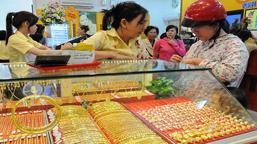 Sau ngày Thần Tài, giá vàng SJC giảm mạnh tới 100.000 đồng mỗi lượng
