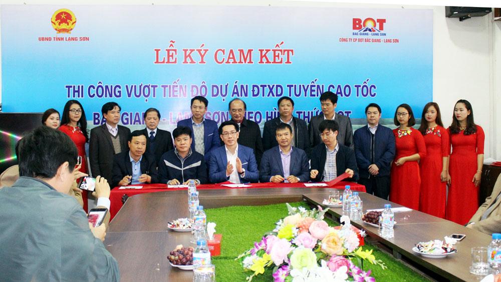 Cam kết vượt tiến độ xây dựng đường cao tốc Bắc Giang – Lạng Sơn