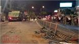 TP Hồ Chí Minh: Xe ben mất lái tông 6 xe máy, 9 người bị thương