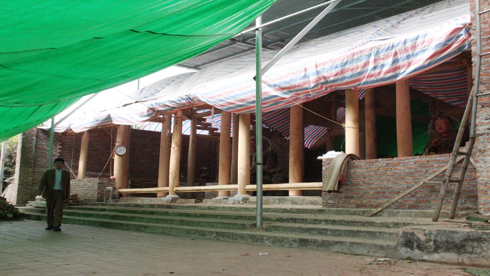 Hơn 1,2 tỷ đồng tu bổ, tôn tạo chùa Chèo, xã Thái Sơn