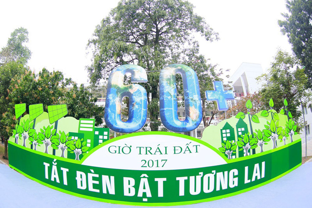 Turn off lights, Earth Hour, Vietnam, unnecessary lights, Go More Green, climate change, environmental protection, World Wildlife Fund