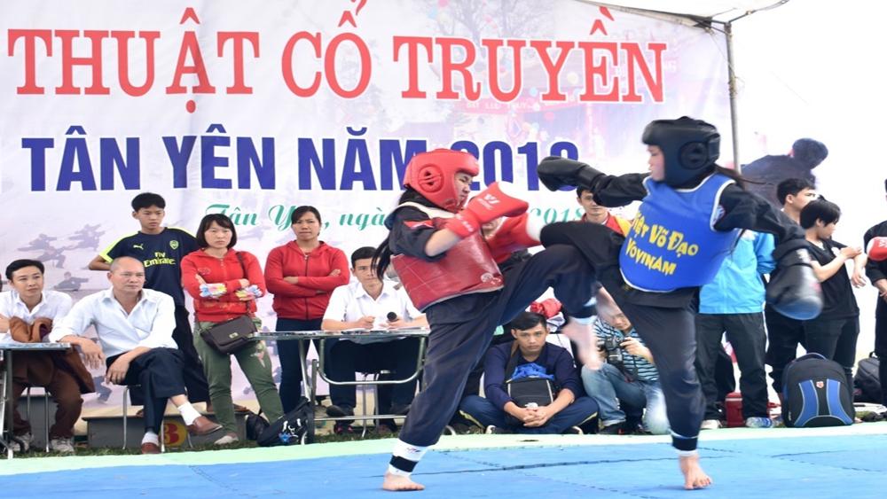 Tổ chức giải võ thuật cổ truyền năm 2018