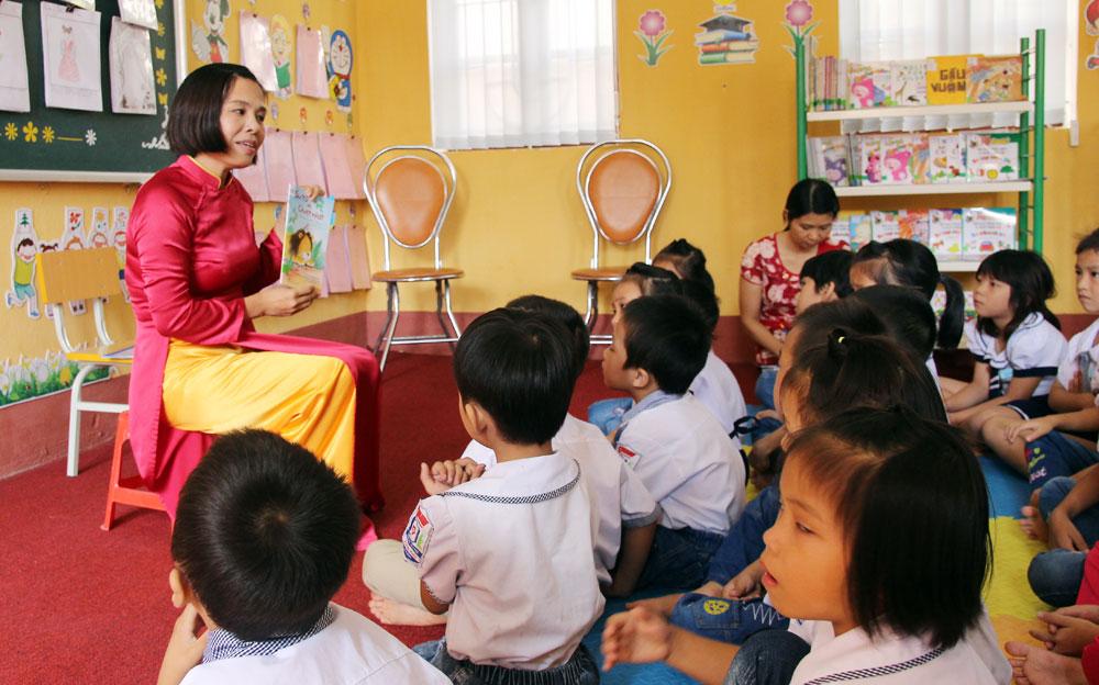 Bắc Giang, Xây dựng,  75  Thư viện thân thiện,  trường tiểu học