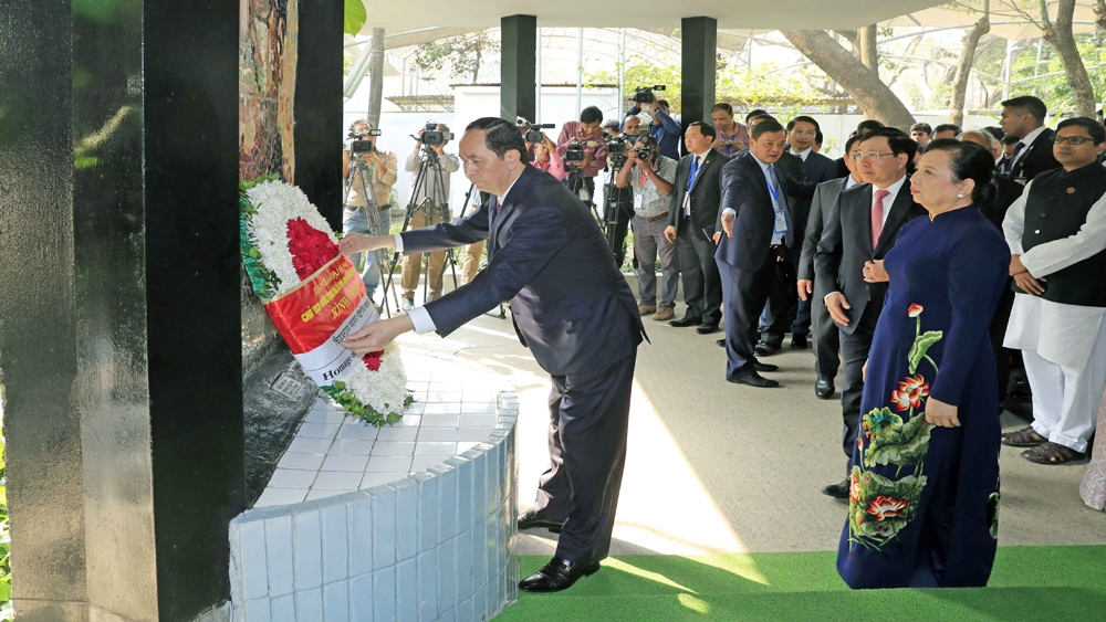 Chủ tịch nước, Trần Đại Quang, hội đàm, Thủ tướng, Bangladesh, Sheikh Hasina