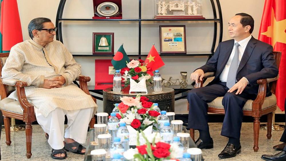 Hoạt động, tiếp xúc, song phương, Chủ tịch nước, Bangladesh