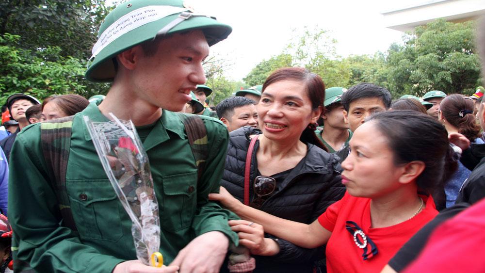 155 tân binh TP Bắc Giang nhập ngũ