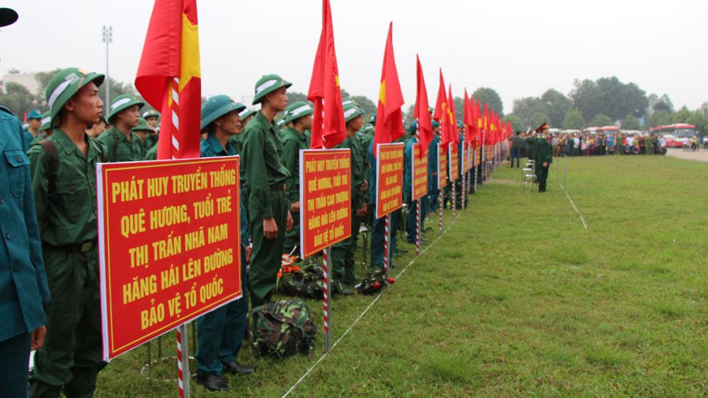 Tân Yên: 312 thanh niên lên đường nhập ngũ