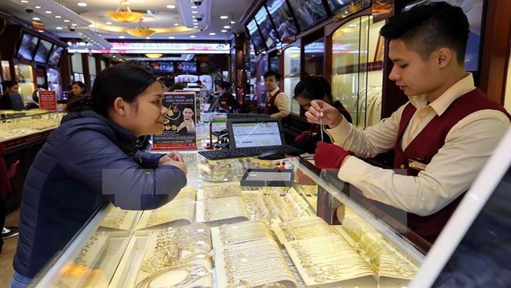 Vàng Rồng Thăng Long tiếp tục cao hơn thương hiệu SJC 320.000 đồng