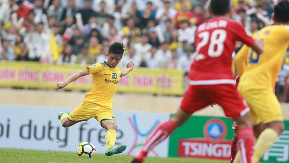 Cầm hòa, SLNA, nhất bảng, AFC Cup