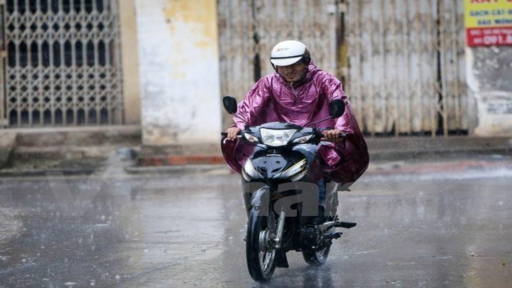 Không khí lạnh tràn về, Bắc Bộ chiều tối có mưa dông, Hà Nội mưa phùn