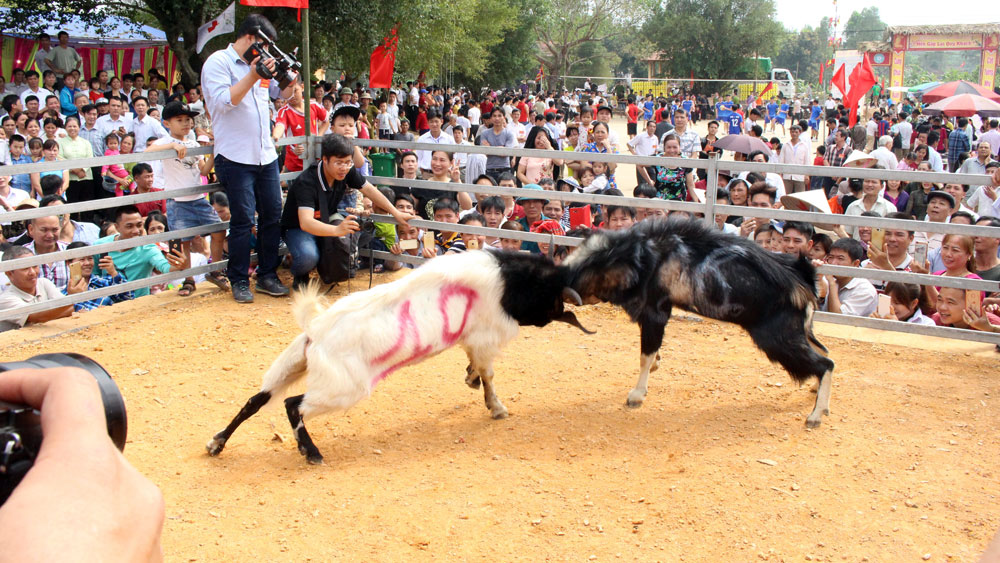 Attractive folk games at Xuan Lung – Thac Nga festival