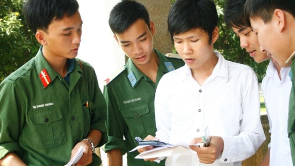 5.475 chỉ tiêu tuyển sinh đại học, cao đẳng quân sự năm 2018