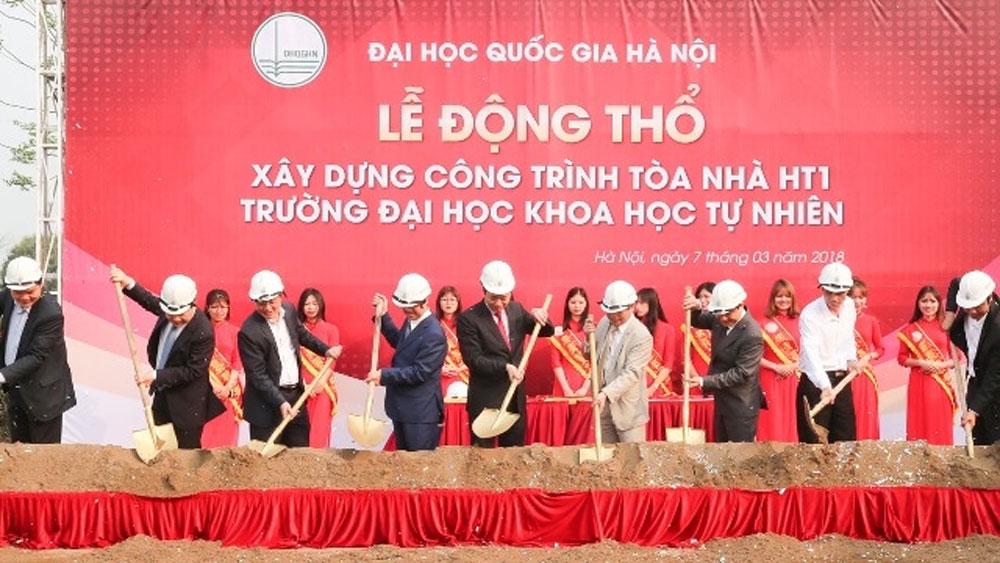 Xây dựng tòa nhà đầu tiên của Trường Đại học Khoa học Tự nhiên tại Hòa Lạc
