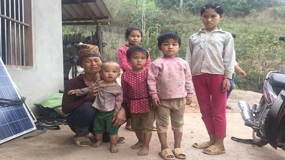 Sau án mạng, vợ và con nạn nhân Dương Kim Chi càng nheo nhóc đáng thương.