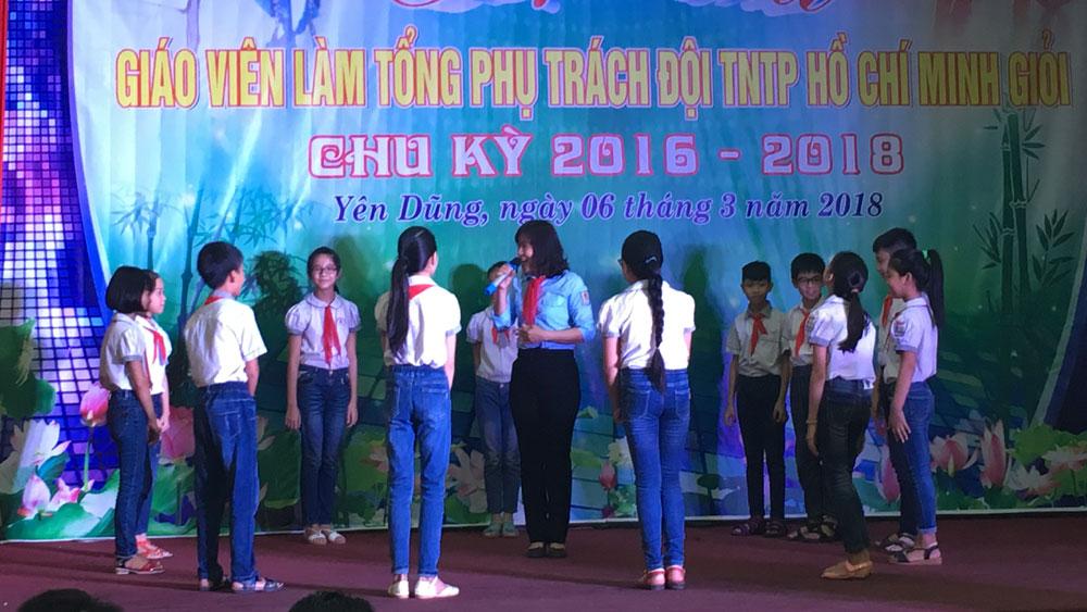 Yên Dũng, thi giáo viên, tổng phụ trách đội, chu kỳ 2018