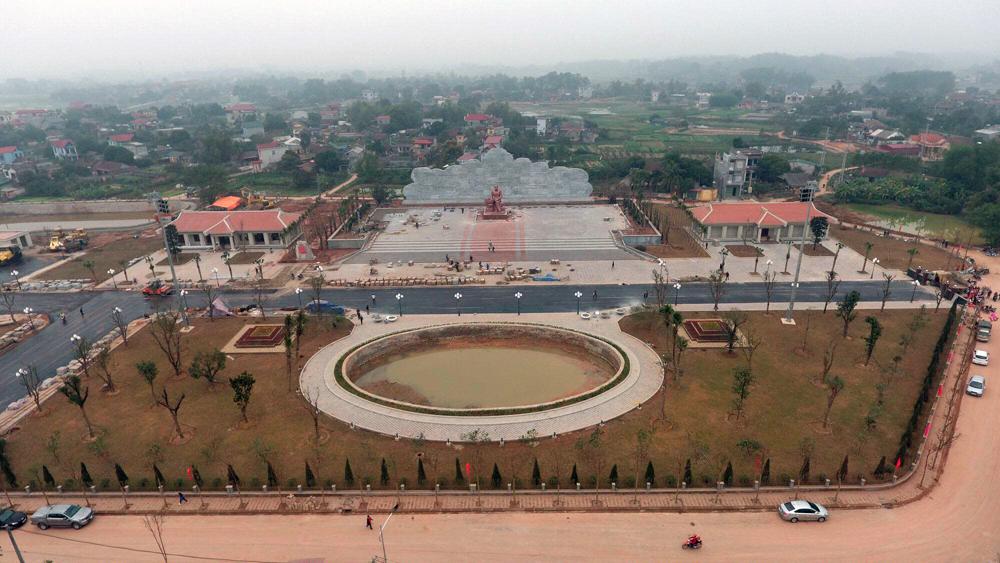 Toàn cảnh Khu lưu niệm 6 điều Bác Hồ dạy CAND tại xã Nhã Nam (Tân Yên).
