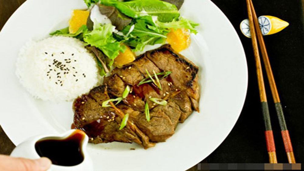 Thịt bò,  sốt rượu,  gia vị, bữa cơm, gia đình