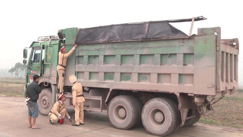 Công an huyện, Yên Dũng, xử lý, xe quá tải