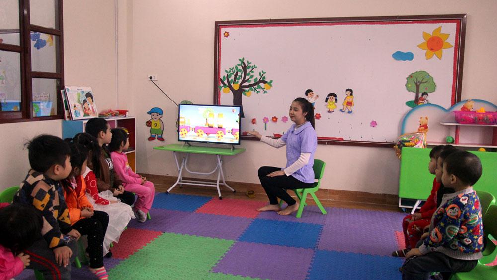 Đến năm 2020, toàn tỉnh bổ sung 516 phòng học mầm non