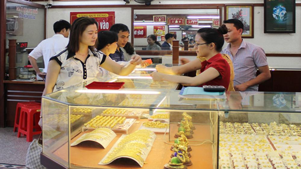Giá vàng trong nước giảm nhẹ 50.000 đồng mỗi lượng phiên đầu tuần