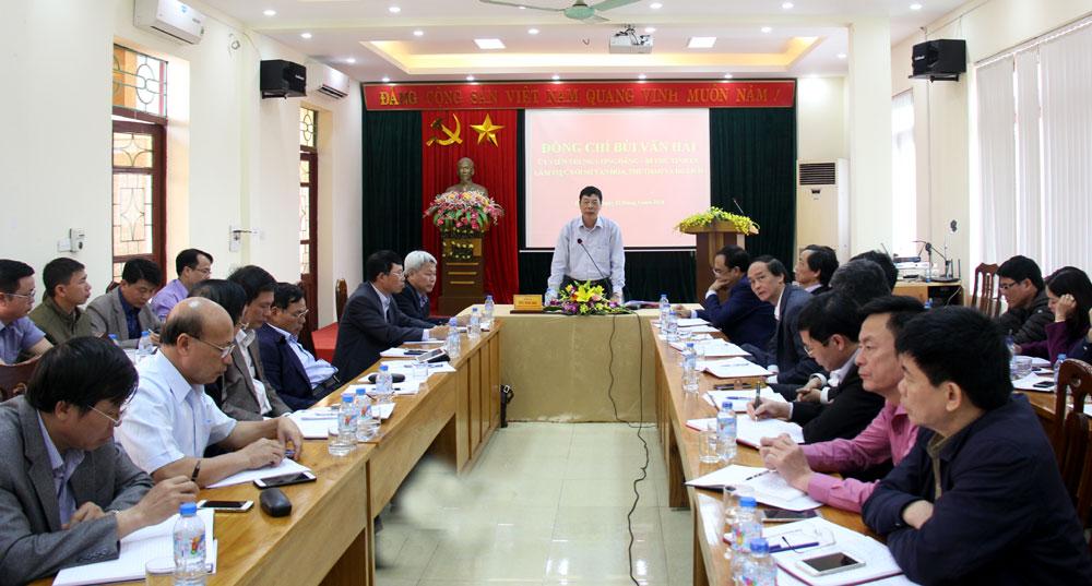 Làm việc với Sở VH,TT&DL, Bí thư Tỉnh ủy Bùi Văn Hải,  chỉ đạo, Nâng cao,  chất lượng,  danh hiệu,  văn hóa