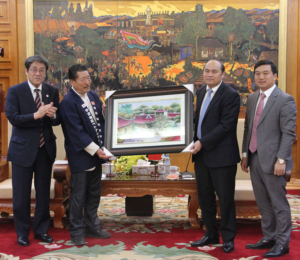 Chủ tịch UBND tỉnh Bắc Giang, Nguyễn Văn Linh, Đại sứ Nhật Bản, Umeda Kunio