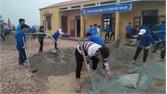 Thi công công trình thanh niên huyện Lục Ngạn