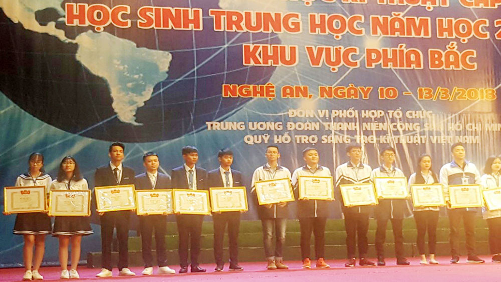 Bac Giang students win high prizes at National Technology Innovation Contest