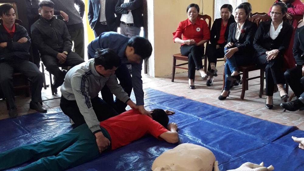 Yên Dũng, tập huấn, tình nguyện viên, sơ cứu tai nạn