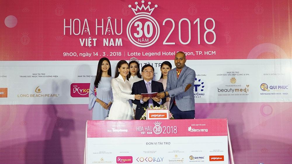 Vietjet, transport sponsor, Miss Vietnam 2018, beauty contest, beauty queen,  30th anniversary,  entertainment events