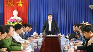 Bí thư Thành ủy Nguyễn Sỹ Nhận làm việc với phường Thọ Xương