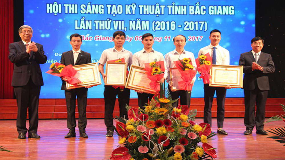 Bac Giang province, two projects, National Technology Innovation Contest, academic year, distillation tools, consolidation prize