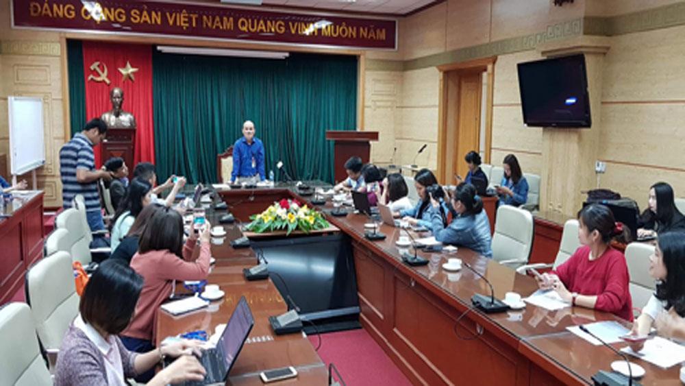 Buổi gặp mặt báo chí tại Bộ Y tế chiều 21-3.