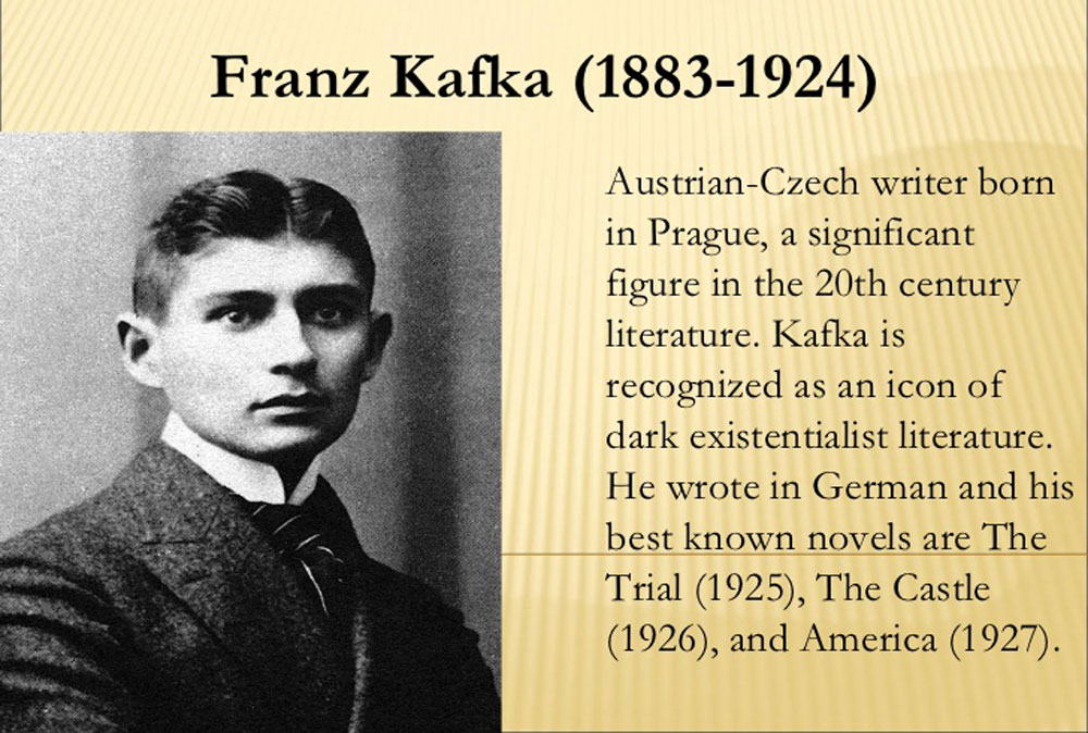 """kafka writer According to kafka's friend and biographer max brod, at the time of his death kafka was working on his short story, """"a hunger artist,"""" about a man whose art form is starvation—one of the grimmest kafka analogues, in a very competitive field."""