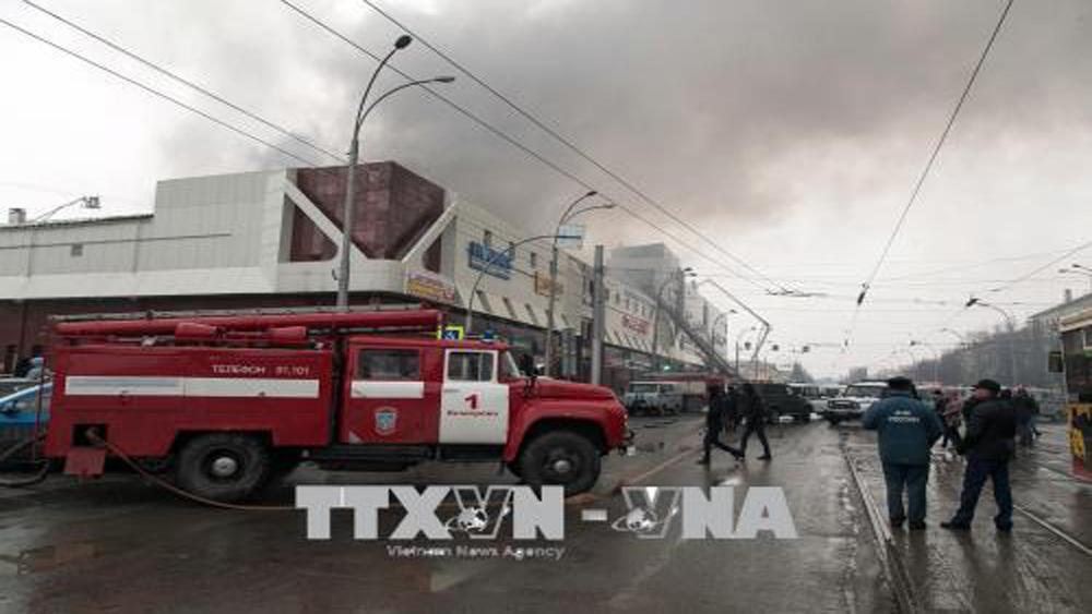 Gần 150 người thương vong và mất tích trong vụ cháy trung tâm thương mại ở Nga