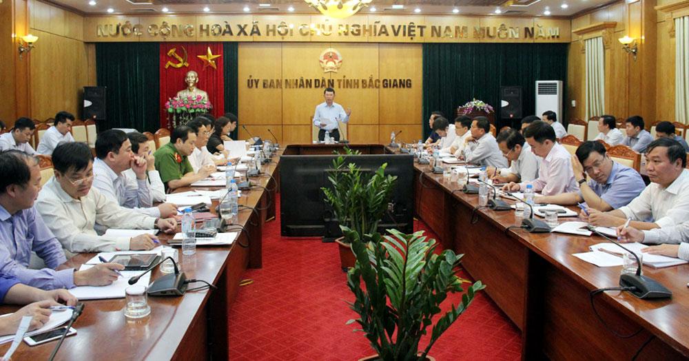 Phó Chủ tịch UBND tỉnh Lê Ánh Dương phát biểu tại hội nghị.