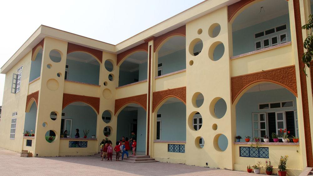 Hoàn thành xây dựng 8 phòng học trường mầm non