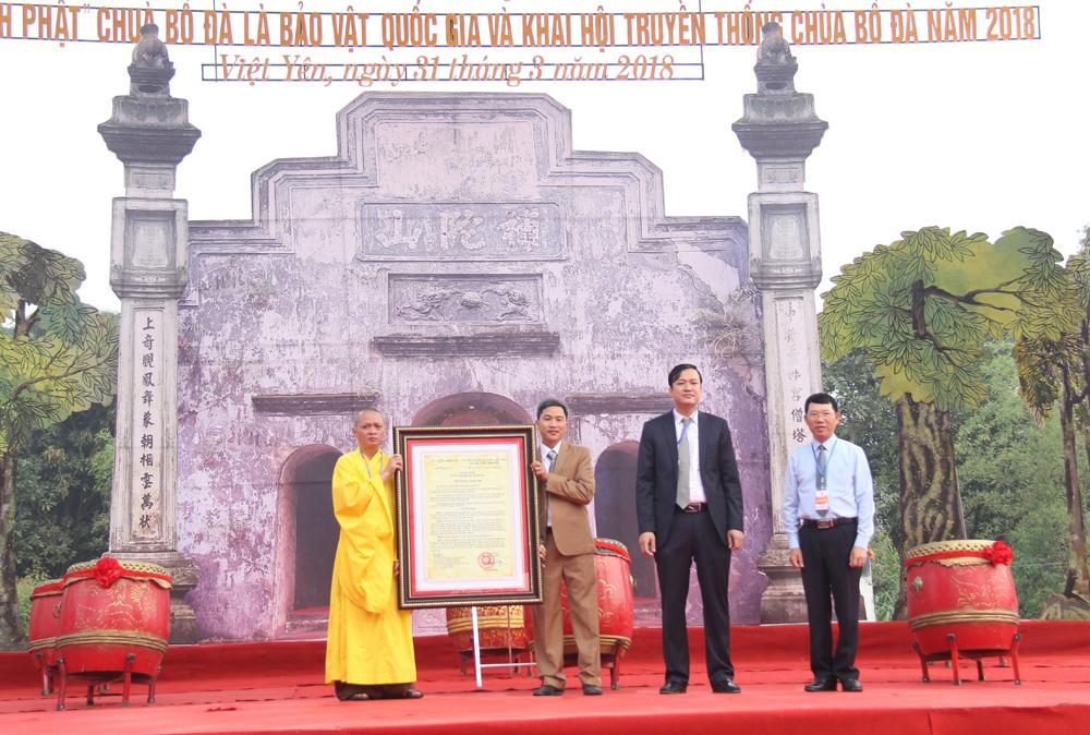 Bắc Giang: Đón Quyết định công nhận Mộc bản chùa Bổ Đà là Bảo vật quốc gia