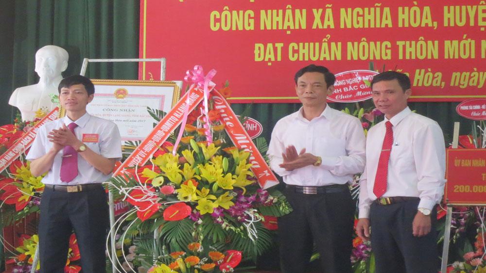 Xã Nghĩa Hòa đạt chuẩn nông thôn mới