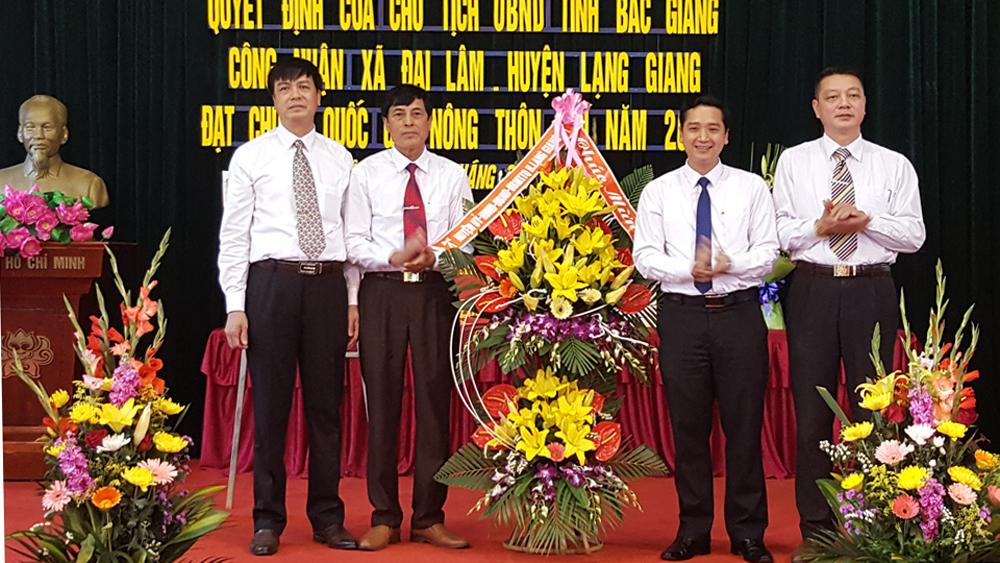 Xã Đại Lâm đón bằng công nhận đạt chuẩn nông thôn mới