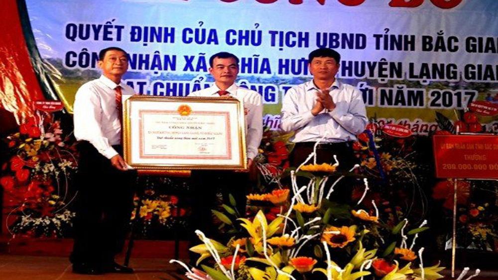 Xã Nghĩa Hưng đón bằng công nhận xã đạt chuẩn nông thôn mới