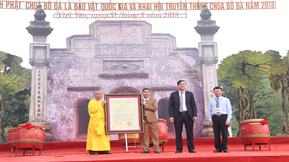 Bo Da pagoda festival, Bac Giang province, kicks off, woodblocks, national treasure title, Buddhist woodblocks, national intangible cultural, relic site