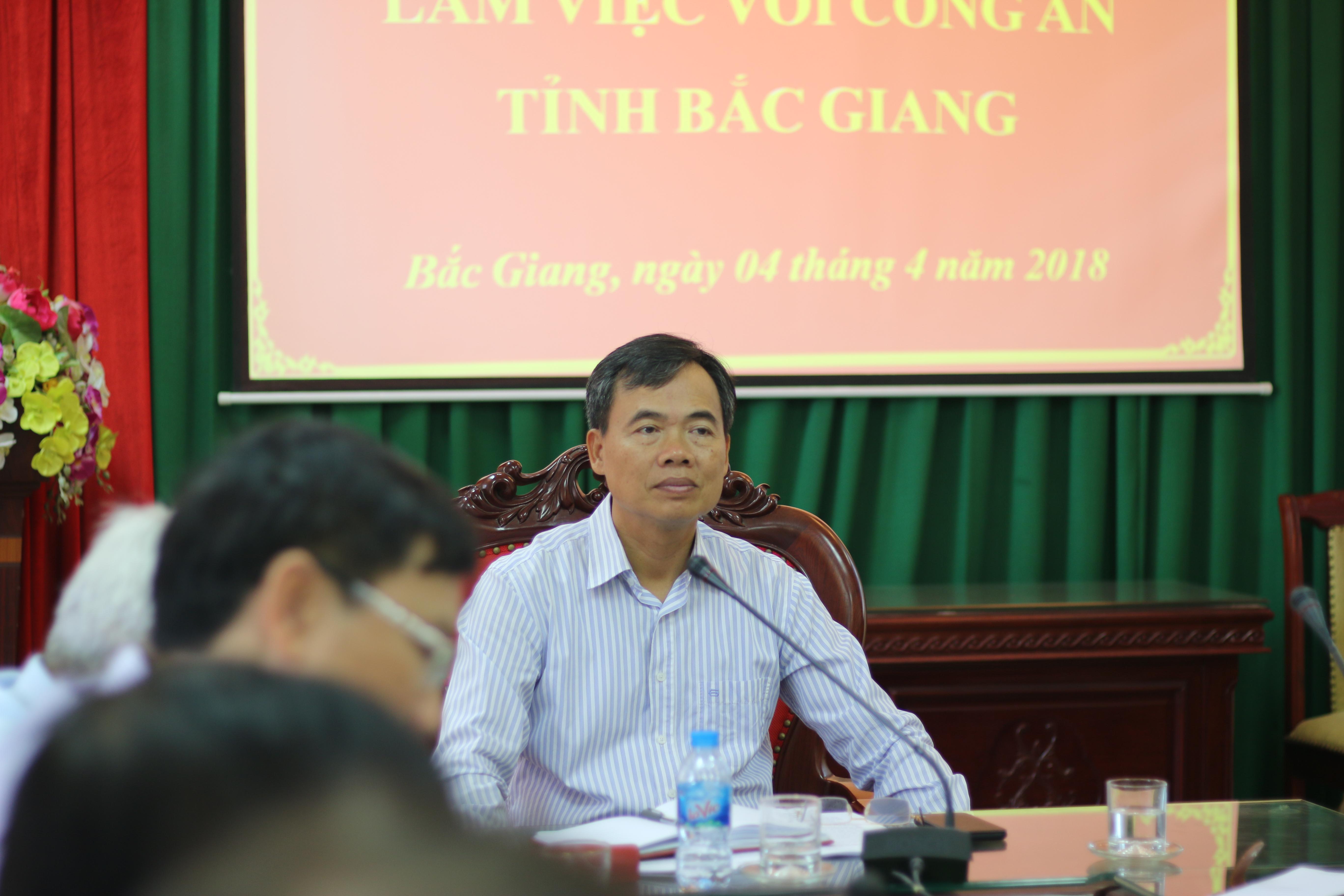 Thường trực HĐND tỉnh giám sát ANTT tại Công an tỉnh