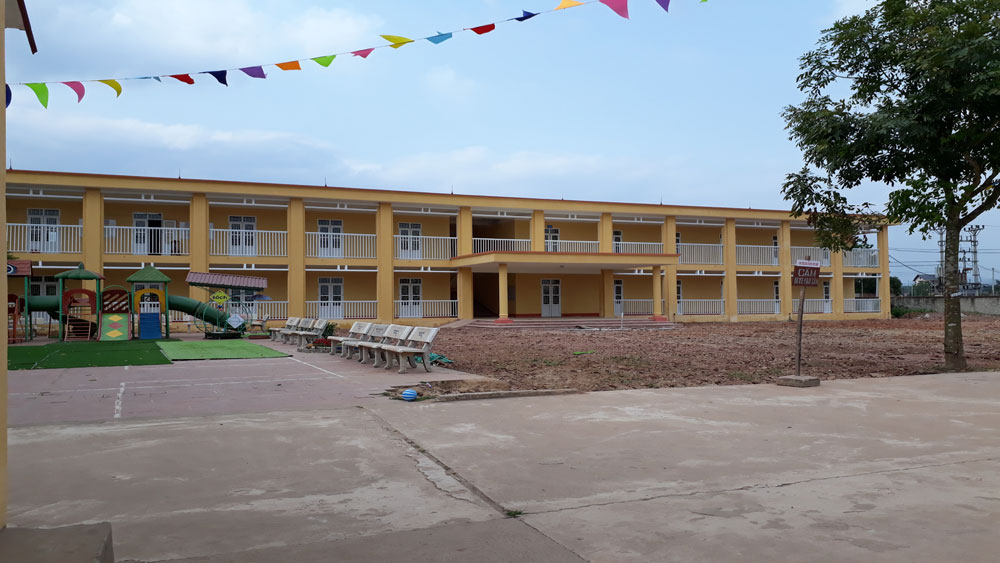 Lạng Giang xây mới 34 phòng học mầm non