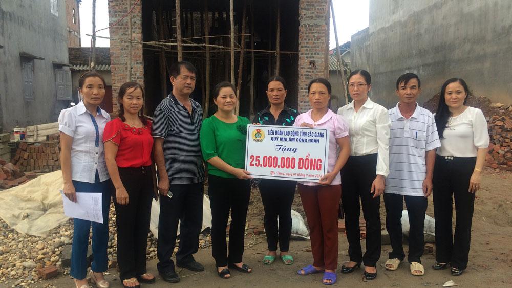 """Hỗ trợ xây dựng 21 nhà """"Mái ấm công đoàn"""""""