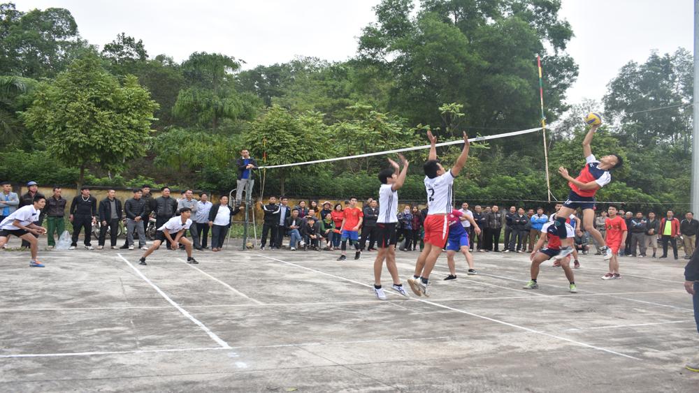 Tân Yên tổ chức giải bóng chuyền năm 2018