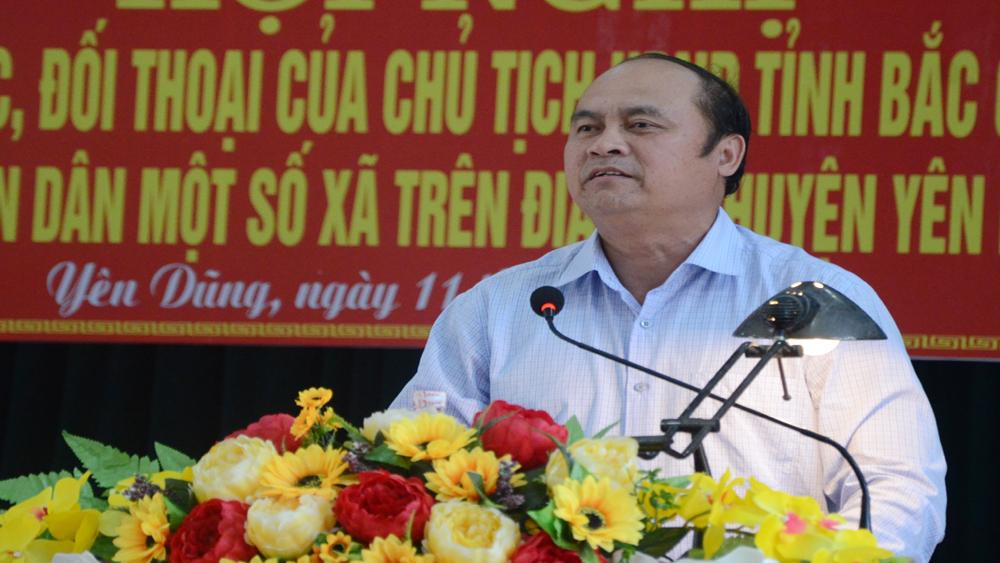 Chủ tịch UBND tỉnh Nguyễn Văn Linh tiếp xúc, đối thoại tại huyện Yên Dũng